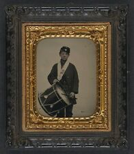 Photo Civil War Union Samuel Doble Drummer Boy Co D 12th Maine Infantry Regiment
