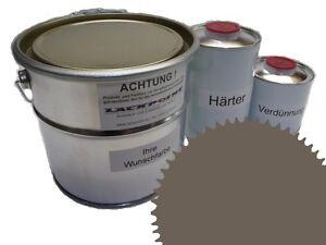 1,5 Liter Set 2K Floor Color Floor Ral 7006 Vinyl-Epoxid-Lack Lackpoint Shine