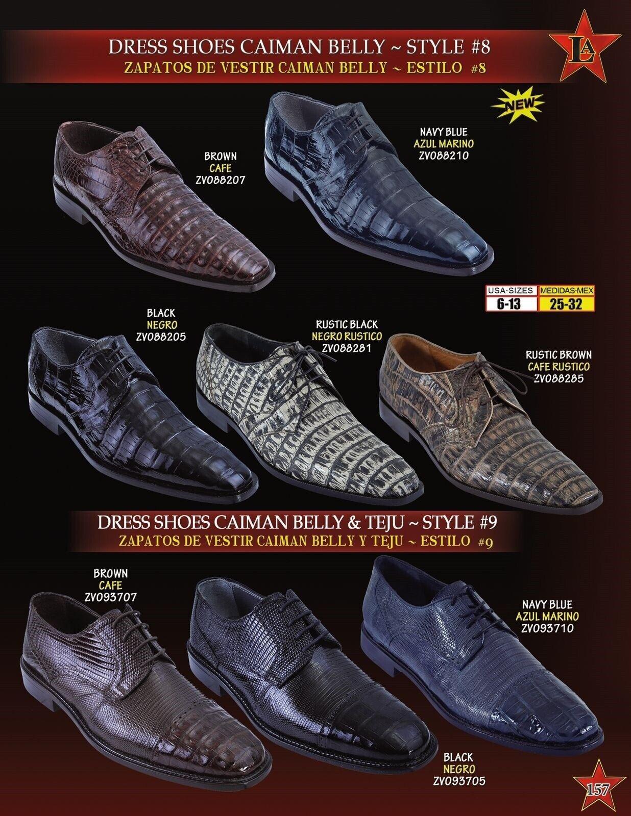 Los Altos Men's Genuine Caiman Belly Teju Lizard Lace Up Oxford Dress shoes