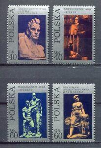 35820) Poland 1971 MNH Sculptures 4v. Scott #1827/30