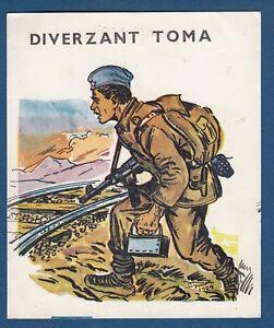 DIVERZANT-TOMA-saboteur-WWII-Yugoslav-Partisans-illustration-vintage-card