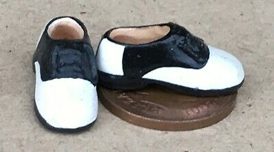 SCALA 1:12 paio di stivali da uomo Nera in miniatura casa di bambole tumdee calzature MS2