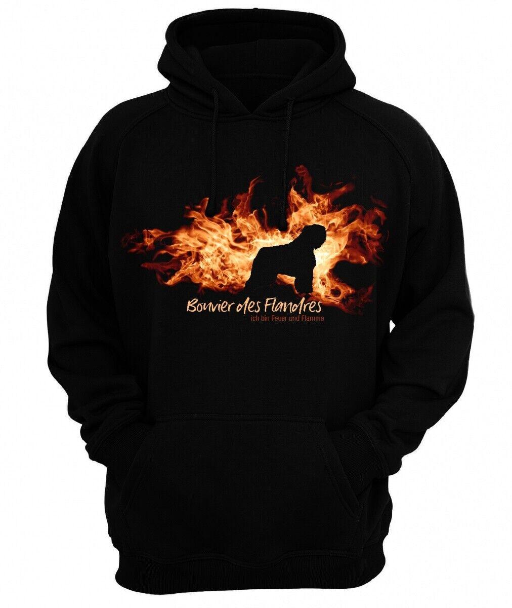 7a9172e3c BOUVIER DES FLANDRES FEUER FLAMME by Siviwonder Hoodie Sweatshirt ...