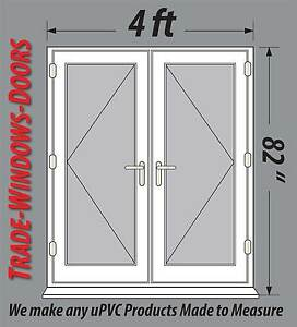 4ft 5ft 6ft wide white pvc upvc french doors new open in