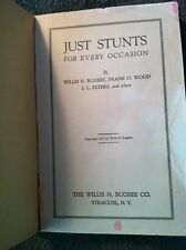Vintage Book Glee Club Just Stunts Ideas For School Shows Games Plays Assembly