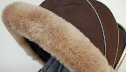 Pushchair My Babiie pram white navy Hood fur trim stroller rose gold in pink