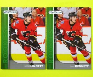 Lot-of-2-SAM-BENNETT-2015-16-034-ROOKIE-PARKHURST-GREEN-034-PR3-Flames
