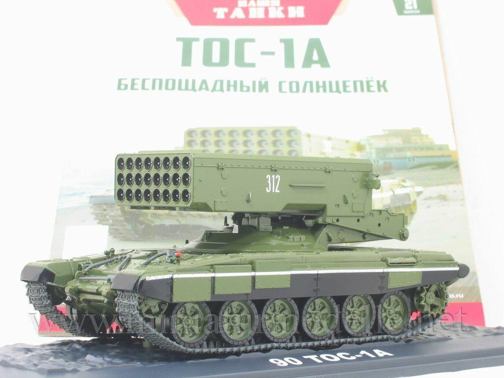 1:43 TOS-1 Raketenwerfer Panzer T-72 Modimio 14 rocket launcher tank Militär OVP