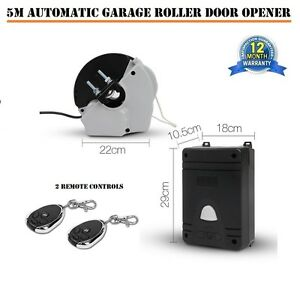 5M-Automatic-Rolling-Garage-Door-Opener-2-Remotes-Obstruction-Detection-Led