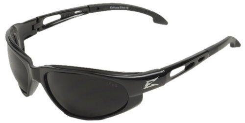 EDGE EYEWEAR SW116 Dakura Gloss Black Safety Glasses w// Smoke Lens
