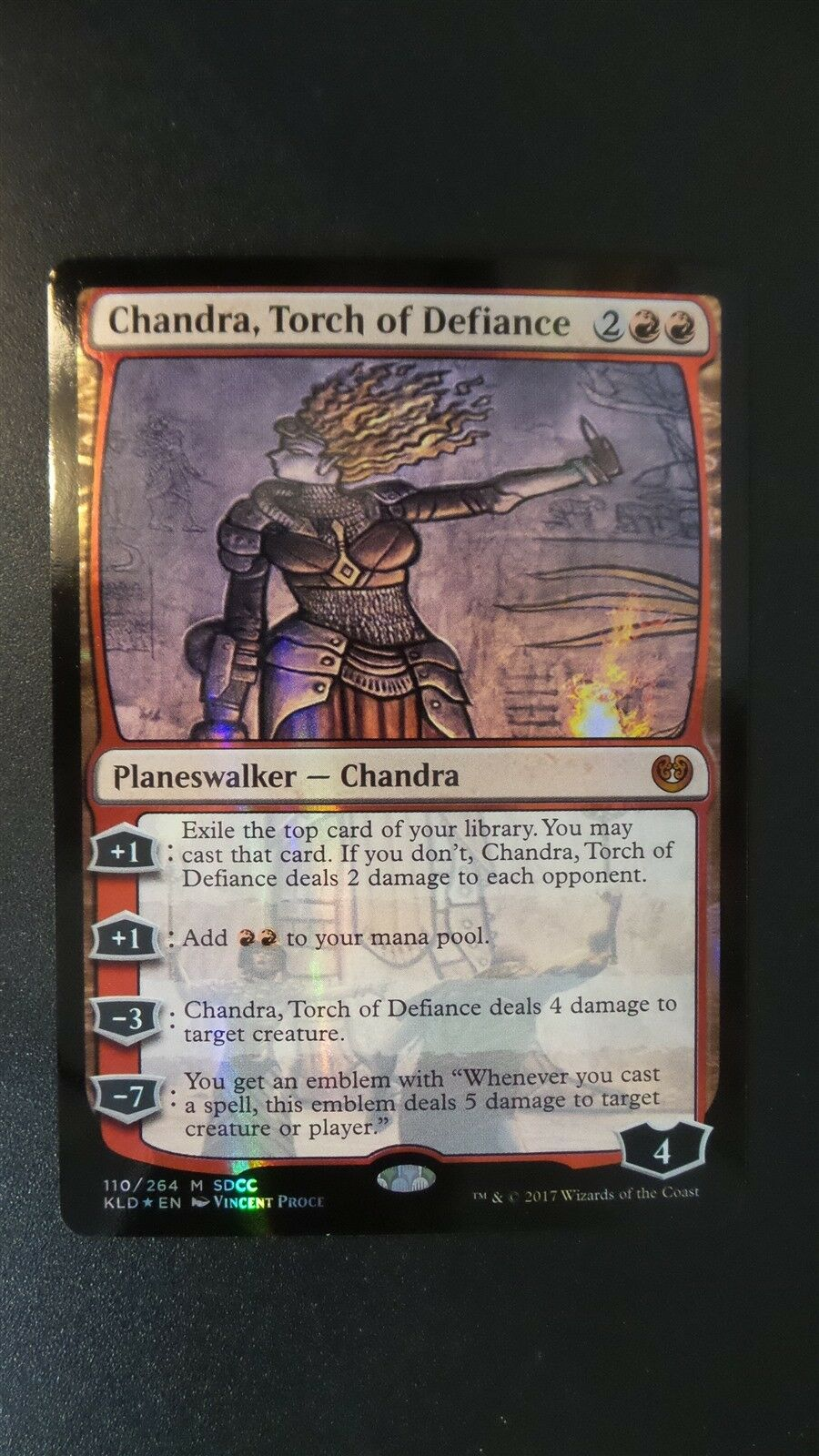 SDCC 2017 Promo Chandra, Torch of Defiance (FOIL) (NM (NM (NM MT