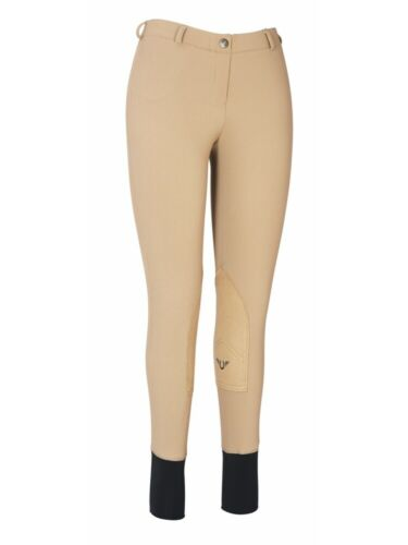 TuffRider Ladies Ribb Lowrise Pull-On Knee Patch Breeches