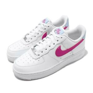 Nike-Wmns-Air-Force-1-07-AF1-White-Fire-Pink-Blue-Women-Casual-Shoes-CT4328-101
