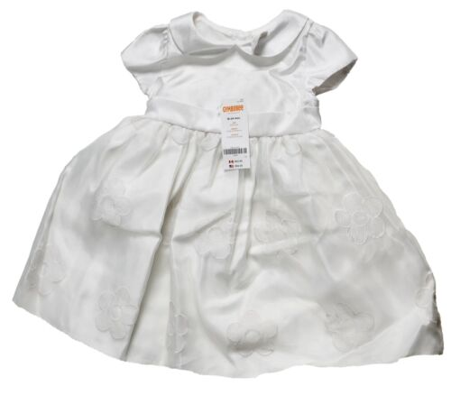 18-24 Months White 2T Gymboree Toddler Girls Bow Dress Embroidered Flowers