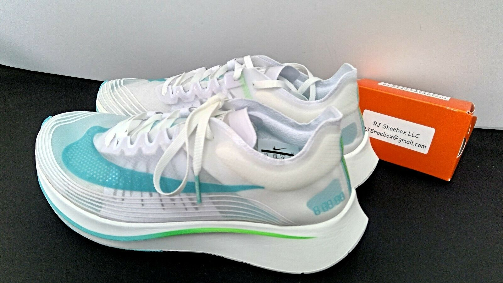 New New New Nike Zoom Fly SP Running shoes White bluee Green AJ9282-103 BNIB Size11 df2732