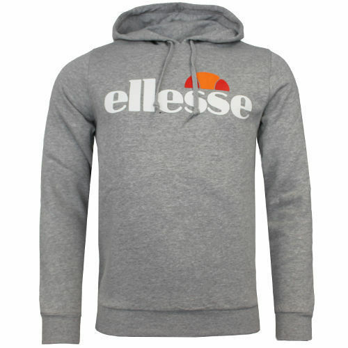 Ellesse Bino Logo Hooded Jumper Mens Track Top Hoody Pullover 09020343 P4F