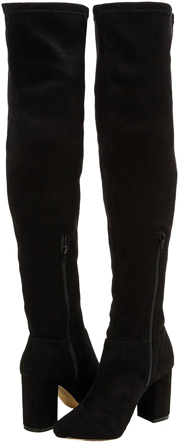 RRP £155 MISS KG VEGAS SIZE 3 OR 7 BLACK FAUX SUEDE OVER KNEE THIGH BOOTS BNWB