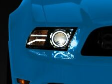 Mustang Raxiom Led Halo Projector Headlights Black Housing 13 14 With Hid S197 Fits Mustang