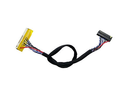 """26cm DF14-20P Single 1ch 8bit LVDS Cable for 14.1/"""" 15/"""" 1024x768 LED LCD Screen"""