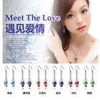 1pair Luxury Shinny Zircon Drop Dangle Silver Earrings Hook Party Jewelry