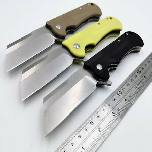 Ball-Bearing-Folding-Knife-D2-Blade-G10-Handle-Flipper-Pocket-Camping-Knives-EDC