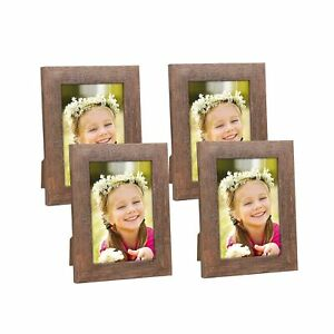Hap Tim 4x6 Picture Frame Brown Wooden Photo Frames for Tabletop Display and ...