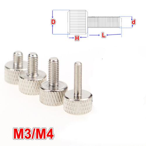 M3 M4 Rändelschraube Edelstahl hohe Form Rändelschrauben PC-Gehäuse Schrauben