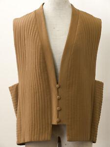 Women-039-s-Vest-Diane-Von-Furstenberg-M-Quilted-Silk-Brown-Color-Lined