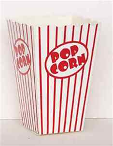 10-POPCORN-BOXES-LARGE-RED-AND-WHITE-HOLLYWOOD-PARTY-CELEBRATIONS-RETRO