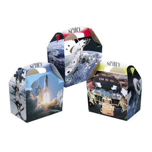 20 Space Ship Rocket Food Boxes ~ Picnic Meal Box ~ Astronaut Birthday Party Bag