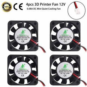 4-Pcs-3D-Printer-Fan-12V-0-08A-DC-Mini-Quiet-Cooling-Fan-40X40mm-with-28cm-Cable