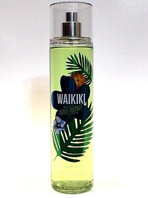Lot 1 Bath Body Works Waikiki Beach Coconut Body Spray Fine Fragrance Mist 667537510565 Ebay