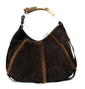 959a1dad12 Image is loading YSL-Mombasa-Hobo-Bag-w-Horn-Handle-amp-