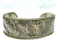 MID CENTURY ARTS AND CRAFTS MODERN STERLING SILVER ESTATE WOMENS CUFF BRACELET