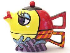 ROMERO BRITTO Tea for one fish NEW Teekanne Fisch Intelligenta Teapot 20115C