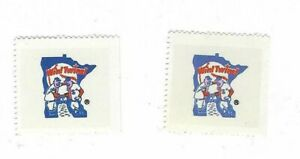 1983-FLEER-BASEBALL-2-STAMPS-MINNESOTA-TWINS