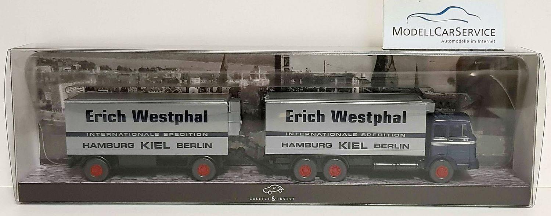 Wiking Spécial Modèle 1 87 (h0)  MERCEDES LP Kühlkoffer-HZ  Erich Westphal, Kiel