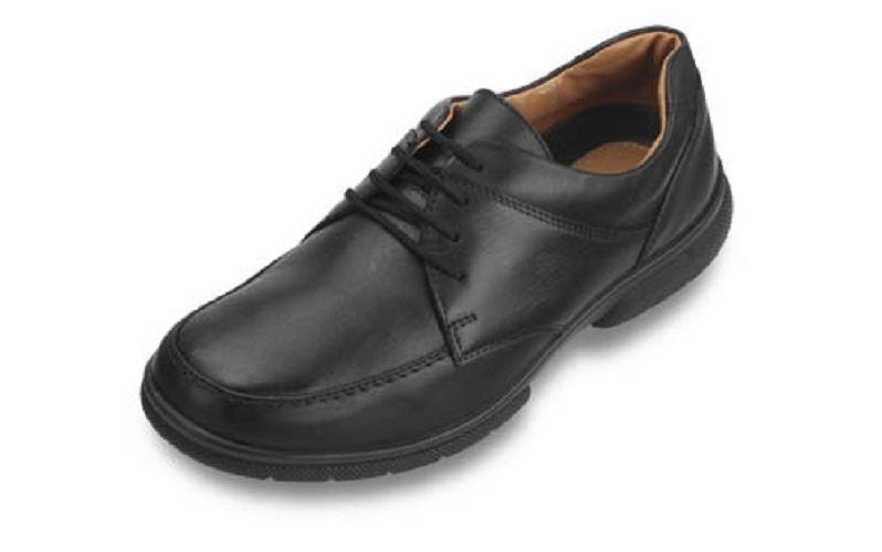 DB Scarpe (Calzata Lacci Formale Scarpe in cuoio in nero, (Calzata Scarpe 4E) EXTRA WIDE e9eed3