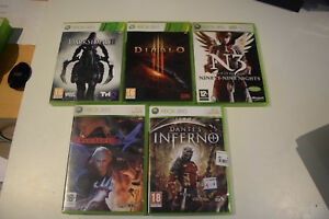 Details About Lot Darksiders 2 Diablo 3 Devil May Cry 4 Dante S Inferno N3 Xbox 360 Xbox360