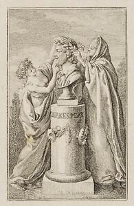 Chodowiecki (1726-1801). la Busto Shakespeare's; pressione grafico