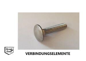 Schlossschrauben Schloßschrauben DIN 603 Edelstahl A2 M6 verschiedene Längen