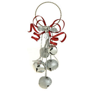 RAZ~Silver Jingle Bell Cluster Christmas Ornament~Use for ...