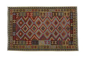 7-039-9-x-5-039-Old-Style-Handwoven-Afghan-Kilim-Area-Rug-100-Wool-Kelim-Carpet-2334