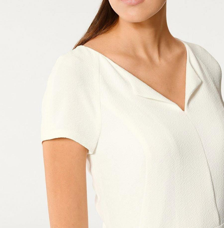 TCJ 005.040 elegantes Kleid Designerkleid Etuikleid Freizeit ecru | Primäre Primäre Primäre Qualität  | Haben Wir Lob Von Kunden Gewonnen  | Authentisch  95a297