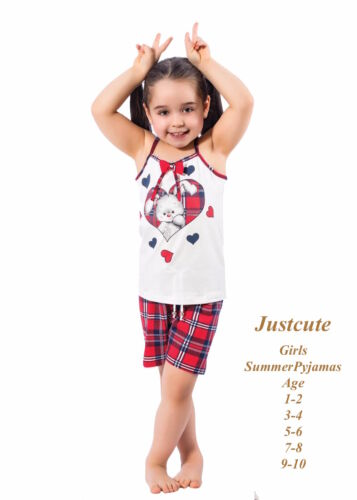 Girl/'s Toddlers Summer Pyjamas Short/'s /& camisole Pjs set 93/% Cot 1 to 10 Years