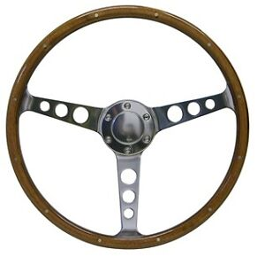 ford classic wood grain 15 inch saas steering wheel ebay. Black Bedroom Furniture Sets. Home Design Ideas