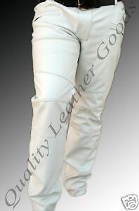 Pants Luxury Trousers Outrageously Shep White Mens Fit Jeans Thigh Leather In R70xqf