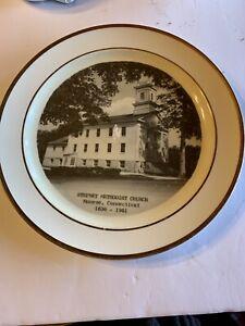 Vintage Collector's Plate Of Monroe Conn Stepney Methodist Church. 1836-2961