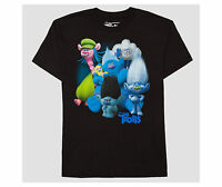 Trolls Character Group Graphic Boys T-shirt - Black Size Large (see Meas.)