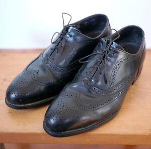 f01e3c457f3 Bostonian Iron Age Black Leather Steel Toe Safety Dress Wingtips ...